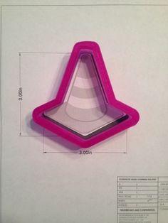 Traffic Cone 02 - cookie cutter at TrulyMadPlastics.com