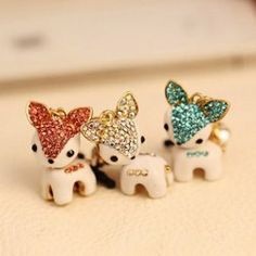 $2.86 Chic Style Rhinestone Decorated Fawn Shape Cellphone Dustproof Plug For Women