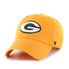 a6a2f64e006 Green Bay Packers 47 Brand Cheddar Gold Clean Up Adjustable Slouch Hat Cap