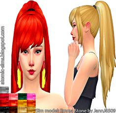 Sims 4 CC's - The Best: KiaraZurk Fashion ponytail recolor by Atomic Sims