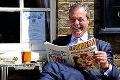 Nigel Farage on the campaign trail in Cambridgeshire, May 2013 (Chris Radburn/PA)