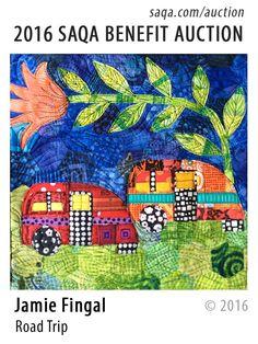 """Road Trip"" - art quilt by Jamie Fingal"