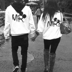 Cute couple hoodies (:    pssh forget cruises lets honey moon to Disney!