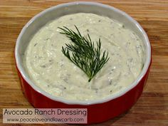 Avocado Ranch Dressing – Low Carb, Gluten Free Just made this, so good, added lime juice, cilantro, and use whoe avacado instead of 1/2.