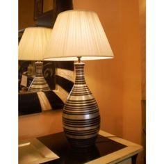 Lámpara de mesa Negro y Plata #Ambar #Muebles #Deco #Interiorismo #Outlet
