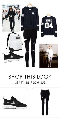 """""""Mark Tuan Airport Fashion"""" by kp0pl0ver ❤ liked on Polyvore featuring NIKE…"""