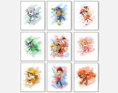 Your place to buy and sell all things handmade Paw Patrol Party, Paw Patrol Birthday, Paw Patrol Decorations, Boy Toddler Bedroom, Mickey Mouse, Anatomy Art, Office Gifts, Nursery Art, Watercolor Art