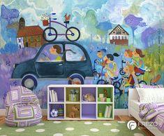 "Wallpaper ""Squirrel On The Bike"" • WOO Design"
