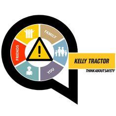 Kelly Tractor - Think About Safety Logo  I Roxx Studio Design