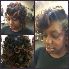 """All Natural Silk Press...styled in """"Overdirection Bodiness"""""""