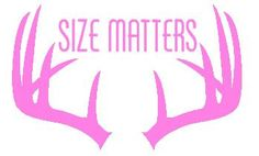 Hunting Decal SIZE MATTERS Car Truck Vinyl Decal  by glendasgifts, $7.00