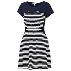 Fat Face Banbury Jacquard Stripe Dress