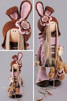 Muñeca de conejo Tilda muñeca Interior de la por AnnKirillartPlace