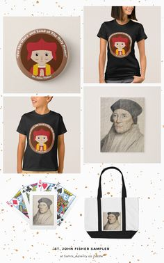 St. John Fisher SAMPLER -- Representative products with different images of the featured saint by our fellow Zazzlers!  #PatronSaints  #JohnFisher