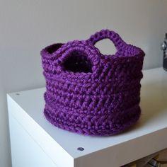"""Chunky basket--Crochet in Color"" #crochet"