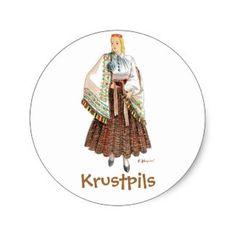 Etiqueta letão do traje (Krustpils) Adesivo