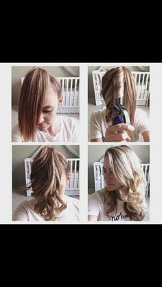 Simple way to curl bottom hair