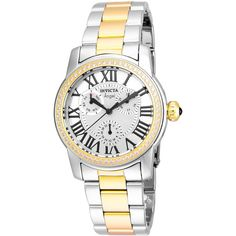 Invicta Womens Two Tone Bracelet Watch-21707 (£91) ❤ liked on Polyvore featuring jewelry, watches, watch bracelet, two tone bracelet watch, invicta watches, bracelet watch and invicta