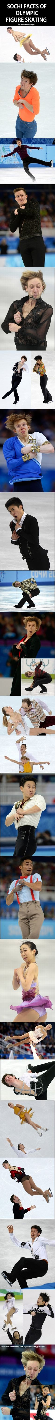 Sochi Faces Of Olympic Figure Skating,  Click the link to view today's funniest pictures!
