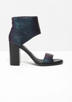 & Other Stories | Oily Block Heel Sandals