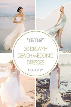 Dreamy Beach Wedding Dresses from Etsy   SouthBound Bride