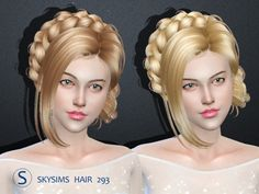 Butterflysims: Skysims 293 donation hairstyle • Sims 4 Downloads