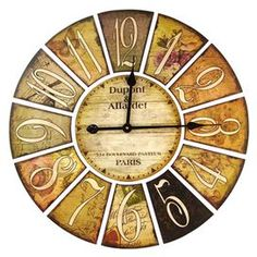 """Perfect above your fireplace or beside a kitchen window, this eye-catching piece brings style and flair to your home décor.Product: Wall clockColor:  MultiAccommodates: Batteries - not includedDimensions: 24"""" Diameter"""