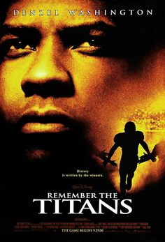 "Remember the Titans (2000) - ""People say that it can't work, black and white. Here, we make it work every day. We still have our disagreements, of course, but before we reach for hate, always, always, we remember the Titans."""