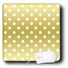 Amazon.com: Janna Salak Designs Prints and Patterns - Gold with Polka Dots Print - Mouse Pads: Office Products
