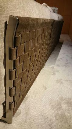 CESTONE sofa flexform, detail of brown suede leather backrest #flexform…