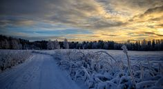 Sunset on Winterroad by Sven Olav Vahlenkamp on The Last Remnant, Our Planet Earth, Comebacks, Twilight, Countryside, Planets, Nature Photography, Beautiful Places, Scenery