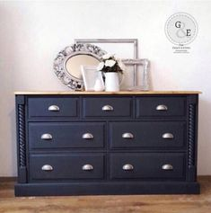 Grey Sideboard/Chest Of Drawers photo 1 Painted Sideboard, Painted Furniture, Mineral Paint, Furniture Collection, Chest Of Drawers, Dining Room, Cabinet, Storage, Grey