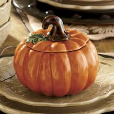 Bowls and Lids, Pumpkin, Set of 4 from Seventh Avenue ®