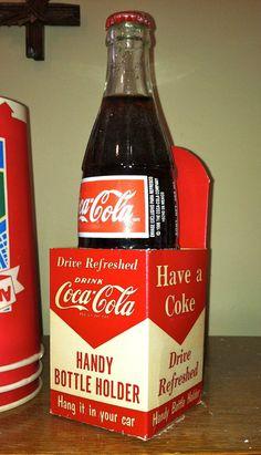 Vintage CocaCola Soda Cardboard Coke Bottle by TruetiquesInc, $45.00