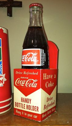 Vintage CocaCola Soda Cardboard Coke Bottle by TruetiquesInc, $45.00