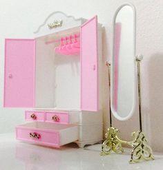 gloria barbie size wardrobe stand mirror play set httpwwwamazoncomdpb00it307i0refcm_sw_r_pi_awdm_nmwstb0tm9tmr amazoncom barbie size dollhouse