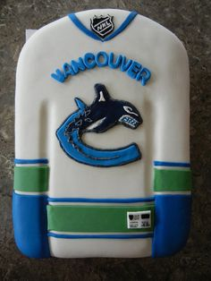 Canucks Birthday or Sports Event Cake