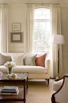 15 fantastiska exempel på gardiner till vardagsrummet