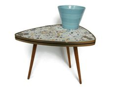 Mid Century Modern plant stand small coffee table by VintageBreda