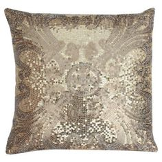 Check out this item at One Kings Lane! Annie 20x20 Pillow, Gold/Silver