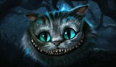 cheshire cat painting | Eyes (complete with white highlights) ...