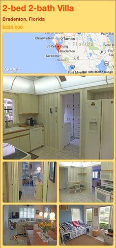 2-bed 2-bath Villa in Bradenton, Florida ►$220,000 #PropertyForSale #RealEstate #Florida http://florida-magic.com/properties/83797-villa-for-sale-in-bradenton-florida-with-2-bedroom-2-bathroom