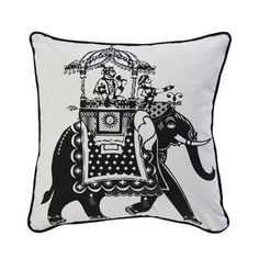 Elephant 18x18 Black White now featured on Fab.