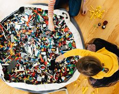If you are tired of stepping on all those little LEGO pieces, then Swoop Bags will be your next best friend. Durable, modern, toy storage bags that make cleanup time simple. Made in Seattle. Toy Storage Bags, Storage Ideas, Lego Storage Brick, Lego Boxes, Modern Toys, Toy Basket, Lego Pieces, Legos, Make It Simple