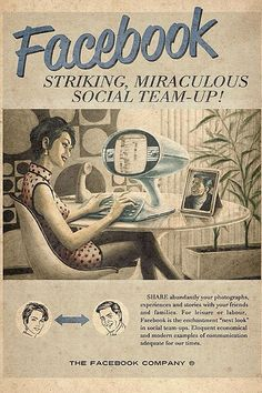Retro ad for Facebook