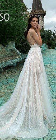 Bohemian A-Line Wedding Dresses Lace Short Cap Sleeve V-Neck Open Backless Milky Light Blue Tea Rose Tulle Beach Rustic Bridal Gown AQUA
