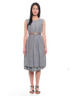Abito in cotone effetto chambray 173 Chambray, Dresses For Work, Fashion, Moda, Fashion Styles, Fashion Illustrations