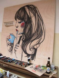 Paula Bonet - Susi Sweet Dress 10-'12 Paula Bonet, Graffiti, Lovers Art, Graphic Illustration, Art Inspo, Cool Art, Art Drawings, Art Photography, Street Art