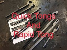 As we look further into the making of blacksmiths tongs, Lets take a look at the Quick Tongs and Rapid Tongs from Kens Custom Iron. These provide a quick and. Blacksmith Tongs, Iron Tools, Metalworking, Blacksmithing, Woodworking, Videos, Youtube, Crafts, Blacksmith Shop