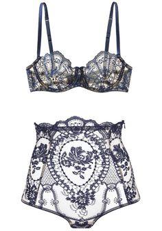 I.D. Sarrieri | La Naissance de Venus - in deep blue Chantilly...